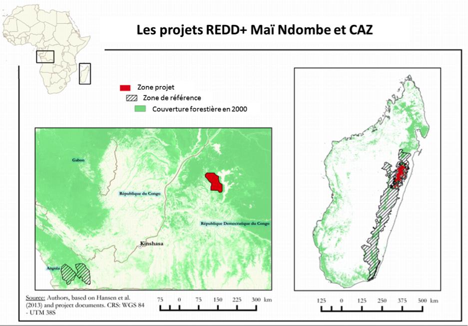 Infographie projets REDD+
