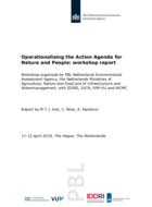 Operationalising the Action Agenda for Nature and People: workshop report
