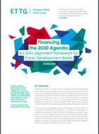 Financement de l'Agenda 2030 : un cadre d'alignement sur les ODD pour les banques publiques de développement