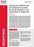 Nouveaux indicateurs de richesse et projet de loi de finances : un calendrier à respecter