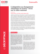 Adaptation to climate change in France: focus on the national framework