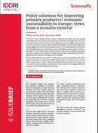 Options politiques pour améliorer la viabilité économique des producteurs primaires en Europe : résultats d'un exercice de scénario