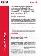 Policy solutions for improving primary producers' economic sustainability in Europe: views from a scenario exercise