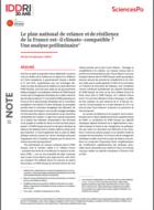Le plan national de relance et de résilience de la France est-il climato-compatible ? Une analyse préliminaire