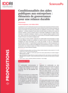 Conditionalities of public aid to companies: elements of governance for a sustainable recovery