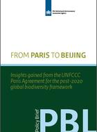 From Paris to Beijing: Insights gained from the UNFCCC Paris Agreement for the post-2020 global biodiversity framework
