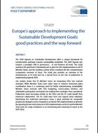 Europe's approach to implementing the Sustainable Development Goals:  good practices and the way forward