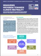 Mesurer les progrès vers la neutralité climatique - Comment les indicateurs «net-zéro» peuvent améliorer la planification et les rapports dans la politique climatique de l'UE