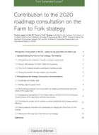 Contribution to the 2020 roadmap consultation on the Farm to Fork Strategy