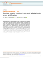 Standing genetic variation fuels rapid adaptation to ocean acidification