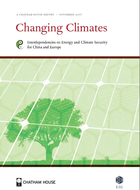 Changing climate: interdependencies on energy and climate security for china and europe