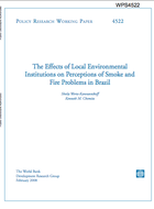 The effects of local environmental institutions on perceptions of smoke and fire problems in Brazil