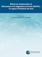 Réduire les émissions liées à la déforestation et à la dégradation de la forêt (REDD) : Un rapport d'évaluation des options