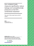 Can unilateral trade measures significantly reduce leakage and competitiveness pressures on EU-ETS-constrained industries?