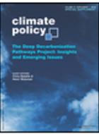 Projet Deep Decarbonization Pathways: numéro spécial revue Climate Policy