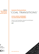 Lessons from previous 'coal transitions'