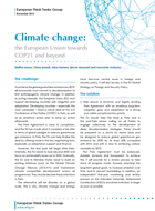 Climate change: the European Union towards COP21 and beyond