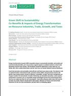Green Shift to Sustainability: Co-Benefits & Impacts of Energy Transformation on Resource Industries, Trade, Growth, and Taxes