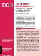 Évaluer l'accord de Paris : une comparaison avec les 10 critères de réussite définis par l'Iddri