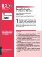 L'innovation au secours de la biodiversité?