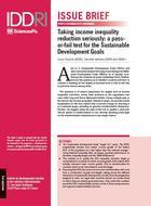 Prendre au sérieux la réduction des inégalités de revenus: un test décisif pour les objectifs de développement durable