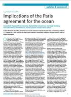 Implications of the Paris Agreement for the ocean