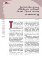 Gouvernance internationale de la biodiversité : impliquer tous les utilisateurs de ressources génétiques