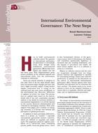 International Environmental Governance: The next steps