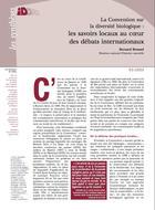 CDB : les savoirs locaux au coeur des débats internationaux