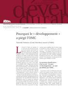 """Pourquoi le """"développement"""" a piégé l'OMC"""