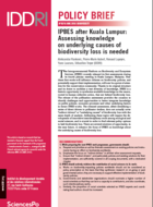 IPBES after Kuala Lumpur: Assessing knowledge on underlying causes of biodiversity loss is needed