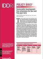 Développement durable: cinq échéances structurantes au coeur du prochain quinquennat