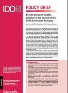 Au-delà des objectifs de réduction d'émissions: l'ambition climatique dans le contexte du Dialogue facilitatif de 2018