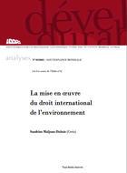 La mise en oeuvre du droit international de l'environnement