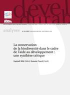 La conservation de la biodiversité dans le cadre de l'aide au développement : une synthèse critique