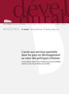 L'accès aux services essentiels dans les pays en développement au coeur des politiques urbaines
