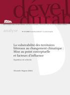 La vulnérabilité des territoires littoraux au changement climatique : Mise au point conceptuelle et facteurs d'influence