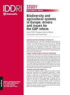 Biodiversity and agricultural systems in Europe: drivers and issues for the CAP reform