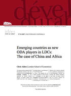 Emerging countries as new ODA players in LDCs: The case of China and Africa