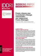 Projets citoyens pour la production d'énergie renouvelable: une comparaison France-Allemagne