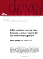 Public health and emerging risks: Emerging countries' responsibility and international cooperation