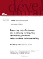 Improving cost-effectiveness and facilitating participation of developing countries in international emissions trading
