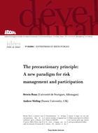 The precautionary principle: a new paradigm for risk management and participation