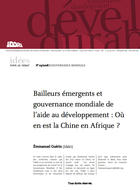 Chinese assistance to Africa: characterization and position regarding the global governance of development aid