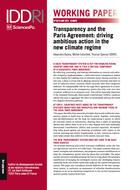 Mécanisme de transparence et Accord de Paris: conduire une action ambitieuse dans le nouveau régime climatique