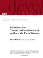 Global taxation: The rise, decline and future of an idea at the United Nations
