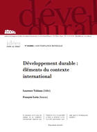 Développement durable : éléments du contexte international