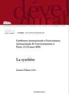 Gouvernance internationale de l'environnement