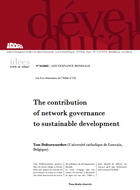The contribution of network governance to sustainable development