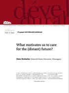 What motivates us to care for the (distant) future?